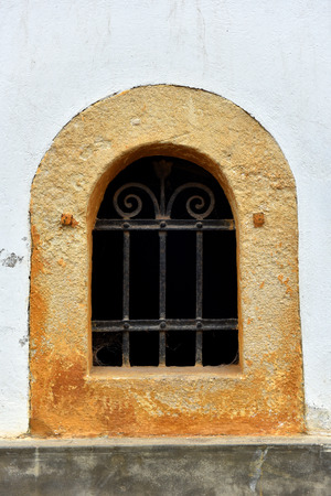 lattice window: Forged metal lattice on a cellar window