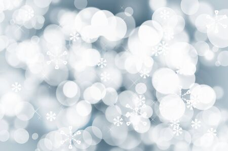 decode: Sparkling Christmas background with glamour lights and snowflakes Stock Photo