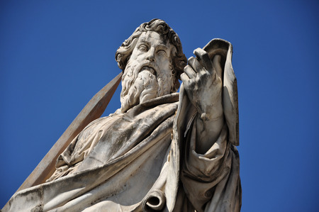使徒聖パウロの像。バチカン市国