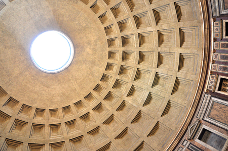 commissioned: ROME, ITALY - MARCH 13, 2016: The Pantheon is a former Roman temple, now a church on the site of an earlier temple commissioned by Marcus Agrippa Editorial
