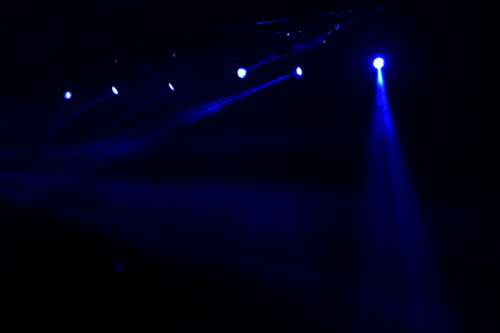 Stage lights at a live concert Stock Photo