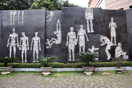 Relief of Vietnamese prisoners at Hoa Lo Prison in Hanoi, Vietnam