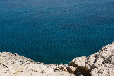 Rocky coastline in Cape Greco, Cyprus island Stock Photo