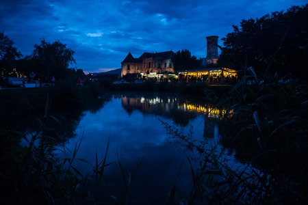 BONTIDA, ROMANIA - JULY 15, 2017: The Banffy castle from Bontida is the place where Electric Castle music festival take place each year Editorial