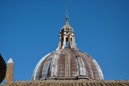 Exterior of the central cupola dome of the Saint Peters basilica, Vatican city