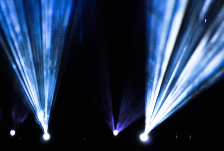 Stage lights during a rock concert. Entertainment industry Stock fotó