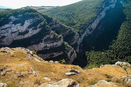 Rocky limestone mountains in Nagorno Karabakh, a disputed territory between Armenia and Azerbaijan but internationally recognized as part of Azerbaijan. Hunot gorge Reklamní fotografie