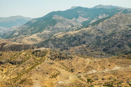 Rocky, arid mountains in Nagorno Karabakh, a disputed territory between Armenia and Azerbaijan but internationally recognized as part of Azerbaijan