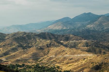 Arid, deserted landscape in Northern Kurdistan, Turkey
