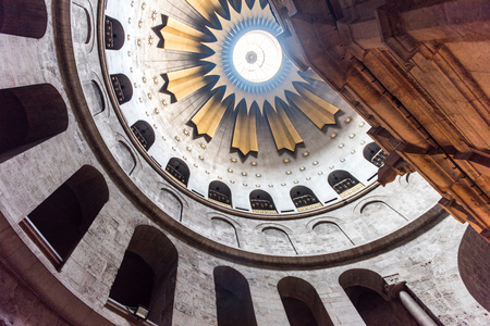 Holy divine light in the Church of the Holy Sepulchre, Jerusalem, Israel