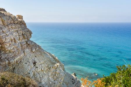 Majestic sea view from a limestone cliff