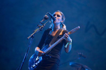 BONTIDA, ROMANIA - JULY 19, 2018: British alternative rock band Wolf Alice performing live on the Main Stage of Electric Castle festival Editoriali