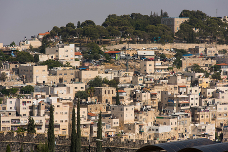 JERUSALEM, ISRAEL - MAY 15, 2018: The Holy city is visited daily by crowd of pilgrims and is one of the major tourist and religious attractions of the World Editorial