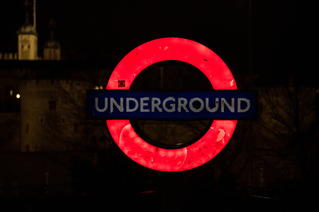 LONDON, UK - MARCH 22, 2019: The London Underground has 11 lines collectively and handle up to 5 million passengers a day