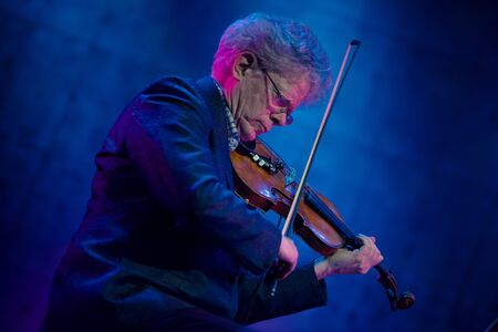 BONTIDA, ROMANIA - JULY 20, 2019: Kronos Quartet American string symphonic orchestra performing live at Electric Castle Festival
