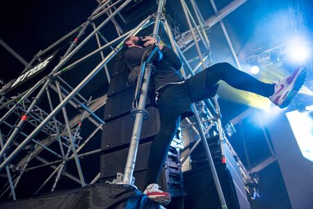 BONTIDA, ROMANIA - JULY 20, 2019: For the Wicked metal band performing a live a rock concert at Electric Castle Festival