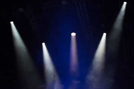 Stage lights at music festival Stock Photo