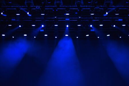 Stage lights in the dark at music festival