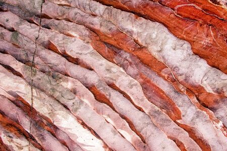 Natural geological sandstone pattern and stripped texture. Petra, Jordan
