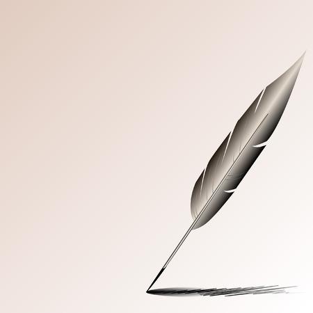 of the pen of the writer Ilustração