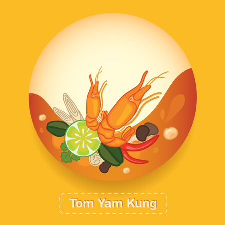 yam: Tom Yam Kung Thai food Label