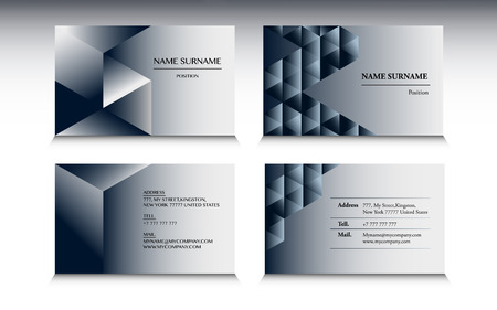 minimalist style: Set of business card template in Minimalist style Illustration