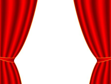 red theater curtain: Red theater curtain on a white background, vector