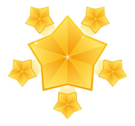banger: Stars burst elements on white background. Star effect, explosion fireworks, banger flash
