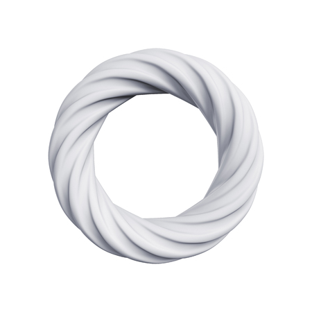 abstract ring isolated on a white background, 3D rendering