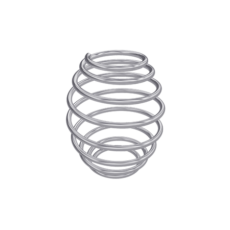 Metal spring isolated on white, 3D rendering
