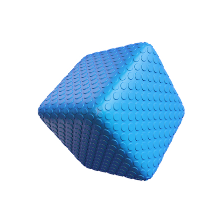 abstract cube isolated on a white background, 3D rendering