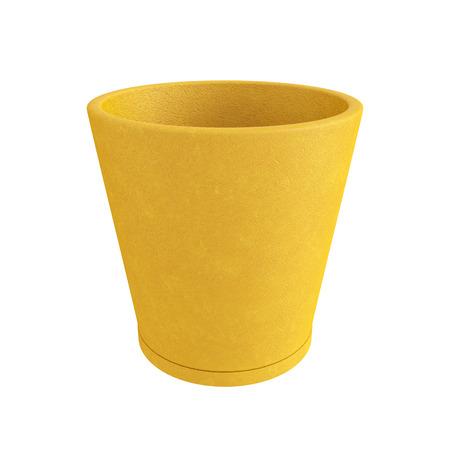 Terracotta Pot Isolated on White Background, 3D rendering