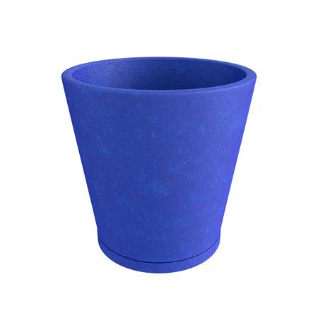 Terracotta Pot Isolated on White Background, 3D rendering, illustration