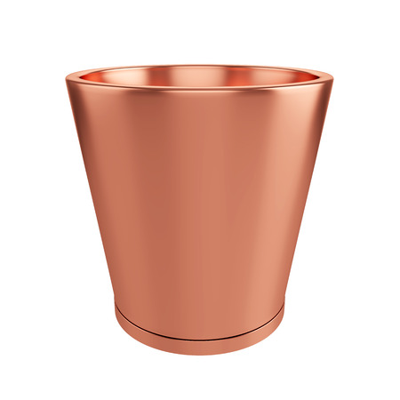 Metal Pot Isolated on White Background, 3D rendering Zdjęcie Seryjne