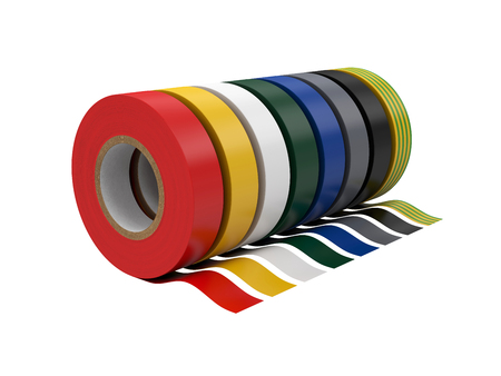Duct tape Isolated on White Background, 3D rendering, illustration Stock Photo