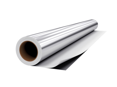 polythene film: roll PVC film, Isolated on White Background, 3D rendering, illustration