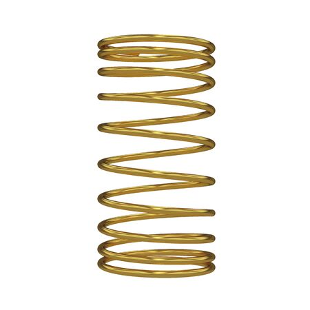 springy: Metal spring isolated on white, 3D rendering