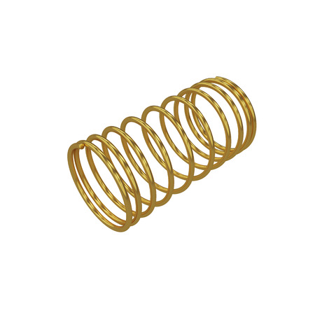 springy: Metal spring isolated on white, 3D rendering, illustration