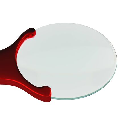 Magnifying glass isolated on a white background, 3D rendering, illustration