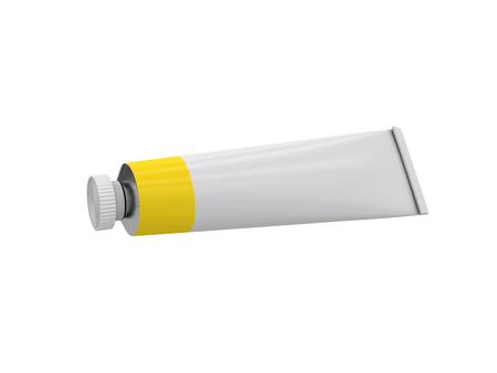 Tube on a white background, 3D rendering, illustration