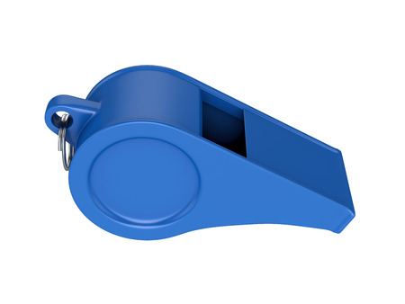 Fluitje Geïsoleerd op Witte Achtergrond, 3D-weergave, illustratie Stockfoto
