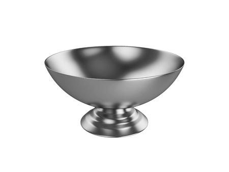 bowl Isolated on White Background, 3D rendering, illustration