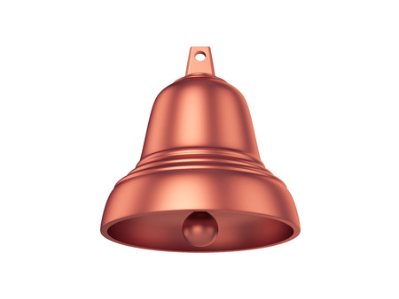 Bell Isolated on White Background, 3D rendering, illustration Stock Photo
