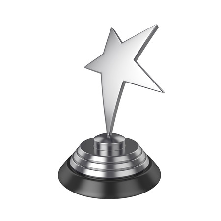 Star award Isolated on White Background, 3D rendering, illustration