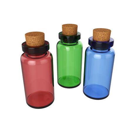 Bottle potion Isolated on White Background, 3D rendering, illustration