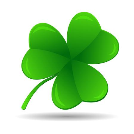 threeleaf: Four leaf clover, vector illustration