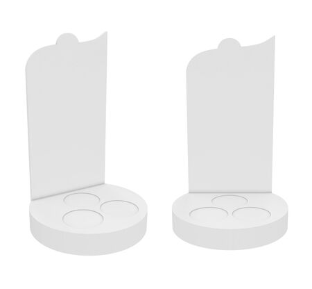 Holder Isolated on White Background, 3D rendering. Illustration