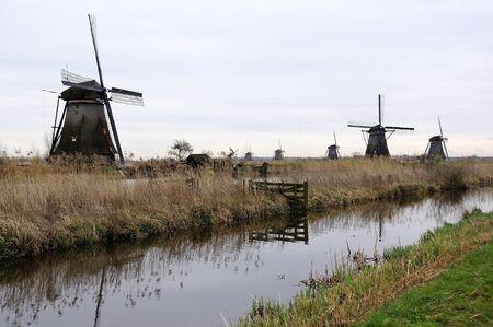 netherlands: Windmills at kinderdijk Netherlands