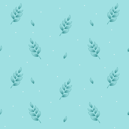 twigs: Wheat floral ornament seamless pattern in mint background. Illustration
