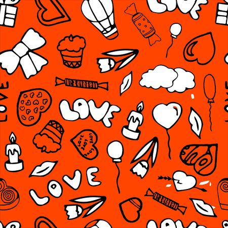 Valentines day seamless pattern. Illustration